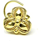 Asian Gold Plated Nose Ring Piercing Nose Ring Karizma Jewels Ethnic Indian Nose Ring