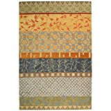 Safavieh Rodeo Drive Collection RD622M Handmade Multicolored Wool Area Rug (6′ x 9′) For Sale