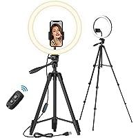 TONOR 12-calowy pierścień do selfie ze statywem na statywie, uchwyt na smartfon, zdalna migawka Bluetooth do konferencji…