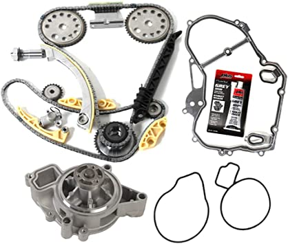 MOCA Timing Chain Kit with Cover Gasket for 2000-2011 Chevrolet Cobalt Malibu /& Saturn Aura Ion /& Buick Lacrosse 2.2L 2.4L L4