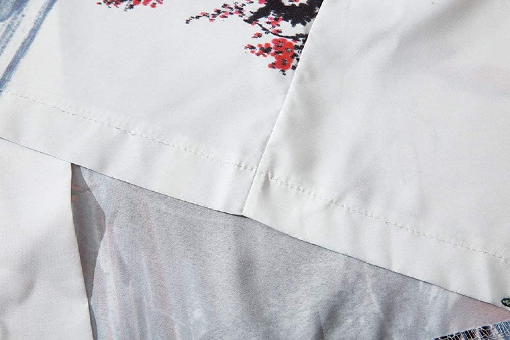 AFASSW Kimono japonais motif f/ée blanche renard imprim/é 2020 Harajuku Streetwear d/écontract/é pour homme Style japonais