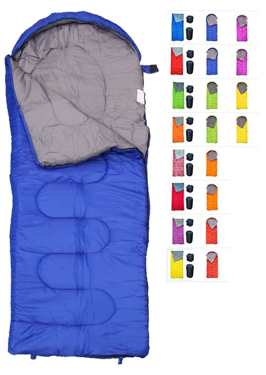 REVALCAMP Sleeping Bag for Cold Weather - 4 Season Envelope Shape Bags by Great for Kids, Teens & Adults. Warm and Lightweight - Perfect for Hiking, Backpacking & Camping (Blue - Envelope Left Zip) by REVALCAMP
