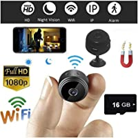 A9 HD 1080P Mini Camera Wireless Wifi Security Night Vision Motion 16GB TF Card(Black)