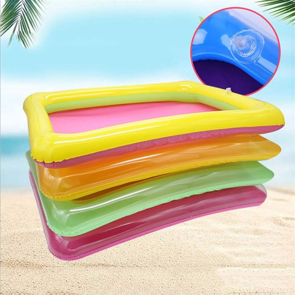 Catkoo Portable Multicolor Inflatable PVC Sandbox Plate Beach Playing Tray Kids Toy,Perfect Training Childrens Intelligence Gifts Random Color