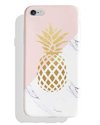 new style 766eb f11d6 J.west iPhone 6s Plus Case, Cute Phone Case Girls Unique Marble Geometric  Pattern Thin Slim Fit Soft TPU Rubber Silicone Protective Case Cover for ...
