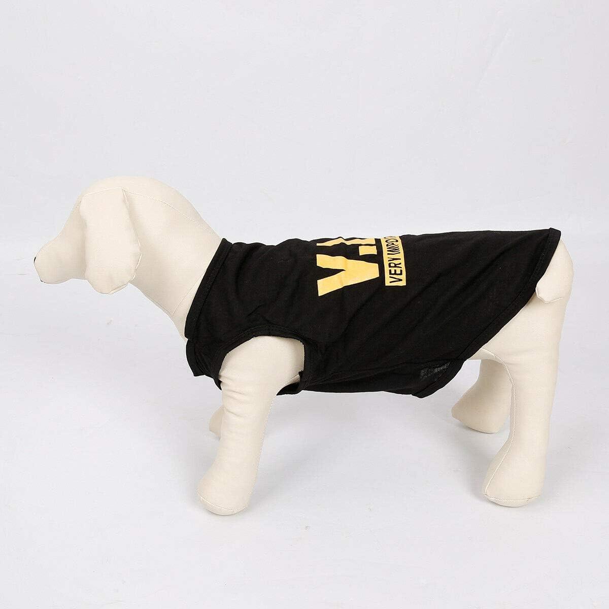 XS to L GJDLLC Black VIP Dog T-Shirt Small Dog Shirt Cat T Shirt Puppy Dog Clothes Dog Basics