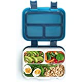 Bento Lunch Box for Kids by Fenrici, Leak-Proof Kids Lunch Box, Removable Tray for Easy Cleaning, Perfect Portion Sized for Ages 6-12, BPA Free, Food Safe, Support a Great Cause, Dark Blue