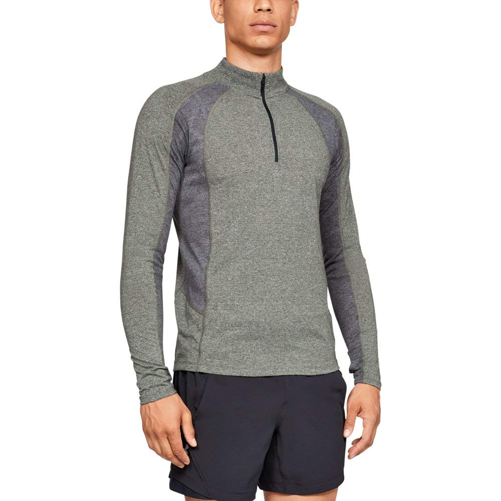 Under Armour Men's Threadborne Swyft ¼ Zip Sweatshirt, Artillery Green Ligh (358), Large