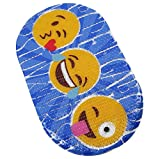 "FOMI Emoji Kids Bath Mat | ABC Designed Non Slip Shower and Bathtub PVC Mat for Toddlers, Children, and Babies | Suction Back, Anti Skid | Fits all Tubs | 27"" x 15"""