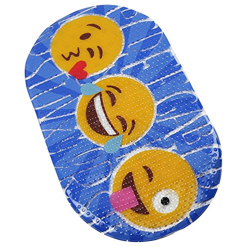 "FOMI Emoji Kids Bath Mat | ABC Designed Non Slip Shower and Bathtub PVC Mat for Toddlers, Children, and Babies | Suction Back, Anti Skid | Fits all Tubs | 27"" x 15"" by FOMI"