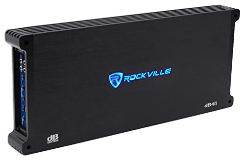 Rockville 3200w Peak / 800w RMS 4 Channel CEA Compliant Car Amplifier, Loud!! (dB45)