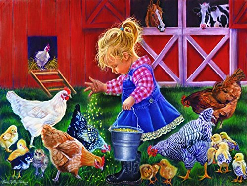 Farm Girl 300 Piece Jigsaw Puzzle by SunsOut - Farm Theme