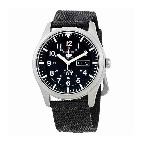 Seiko 5 Sports Reloj para Hombre analógico Deporte Automática Japan Reloj SNZG15J1: Amazon.es: Relojes