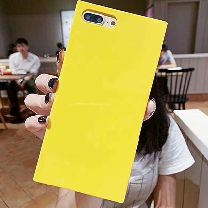 Iphone 6 Plus Square Case Tzomsze Iphone 6s Plus Transparent Iphone Case Reinforced Corners Tpu Cushion 2019 Cute Candy Color Series Square Tpu Slim