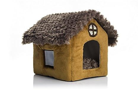 2017plush espuma sólida suave plegable perro Igloo mascotas casa