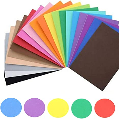 Assorted Colours Uhat Pack 10 A4 Foam Craft Sheets EVA Sponge Paper for Children DIY Crafts Decorations