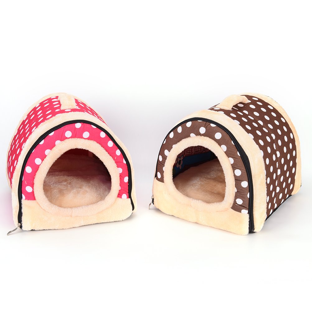 1 Pc Foldable Animal Sleep Bed Kennel Mat Pad Cushion Hanging Cozy Pet House Cage Hammock Cave Hut Winter Warm Nest Tent for Dog Cat Parrot Chinchilla Hamster Guinea Pig Rabbit Squirrel Hedgehog Rat by WWahuayuan (Image #7)