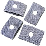 EasyBuy India 4pcs/pack Reuseable Washable Travel Wrist Bands Anti Nausea Car Auto Sea Sick Sickness Grey Brand New