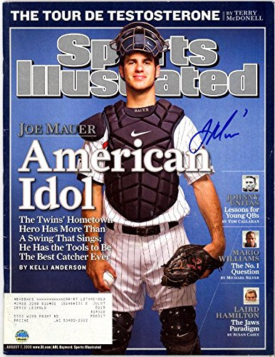 Joe Mauer Autographed Signed Sports Illustrated Magazine Twins 112644 Steiner Sports Certified Autographed MLB Magazines