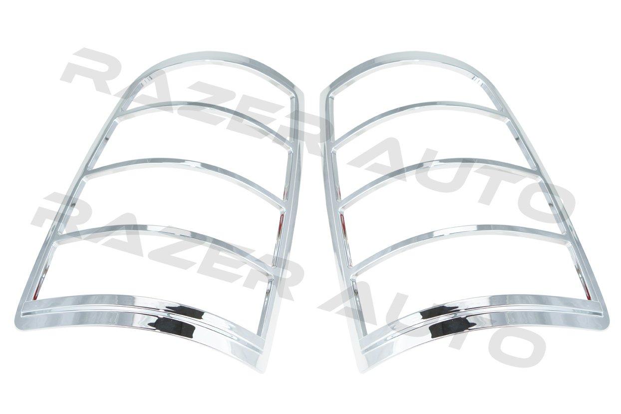 Razer Auto Chrome Tail Light Bezel Trim Cover for 2009-2014 Dodge Ram 1500//2500//3500