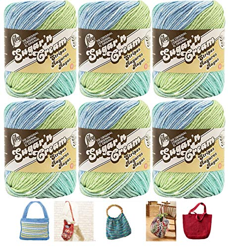 (Lily Sugar n' Cream 6 Pack Bundle Country Stripes and 5 Lily Patterns)