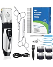 Lanero Dog Clippers Low Noise Pet Clippers Cordless Dog Trimmer Pet Grooming Kit Dog And Cat Clippers Professional Rechargeable Dog Shaver Dogs Cats and Other Animals