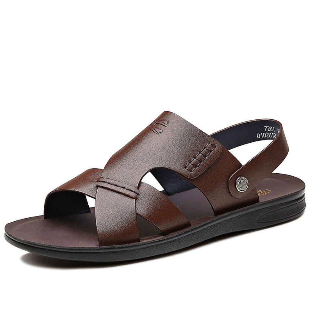 Sandalias De Los Hombres Sandalias Respirables Zapatos Ocasionales De La Playa del Verano 42 EU|Brown