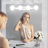 Dimbaar make-uplicht met batterijvoeding, USB-oplaadbaar, draadloze led-spiegellamp, draagbaar make-uplicht voor make…