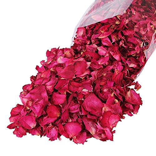 (Nianyan Natural Dried Rose Flower Petals 1LB for Wedding Party Decoration, Petal Bath, Gift Box Fill, Body Wash, Foot Wash,Homemade Tea Blends, Potpourri, Bath Salts)