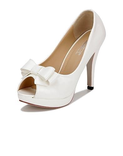 Buy Yepme White Peep-toes