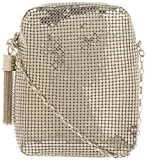 Whiting and Davis  Chain Tassel Pouch 1-5810PW Crossbody,Pewter,One Size, Bags Central