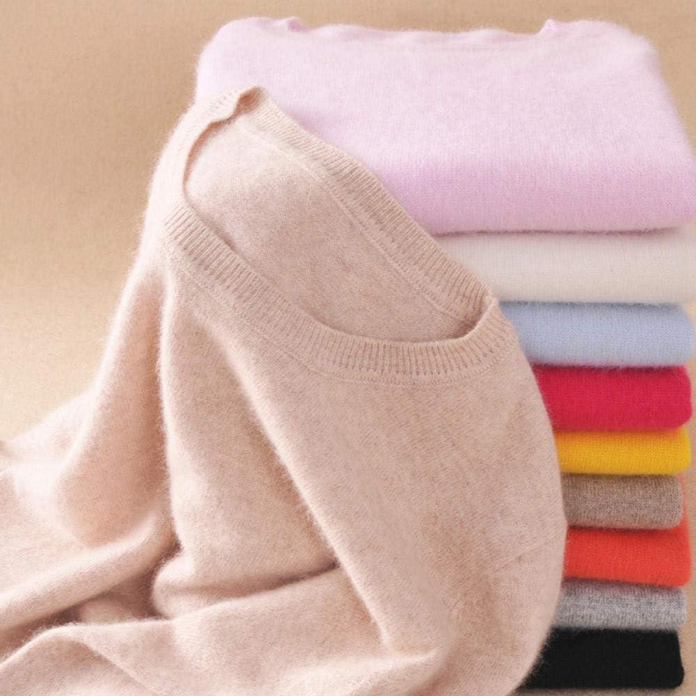 CPFYZH Maglione e Maglione Pullover in Maglia di Misto Cotone Cashmere Autunno e Inverno
