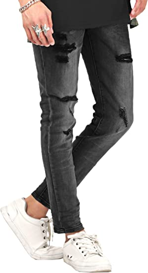 LUX STYLE(ラグスタイル) デニム スキニー メンズ アンクル パンツ ストレッチ タイト