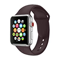 VODKER Sport Strap For Apple Watch Strap 38mm 42mm, Soft Silicone Sport Bands Replacement Wriststraps for iWatch Apple Watch Series 3 Series 2 Series 1,Nike+,Sport,Edition,All Models - (S/M & M/L)