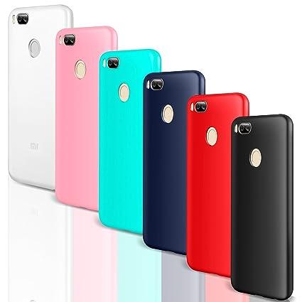 Leathlux 6X Funda XiaoMi Mi A1 / Mi 5X, Carcasas 6 Juntas Ultra Fina Silicona TPU Gel Protector Flexible Colores Case Cover para XiaoMi Mi A1 / Mi 5X ...