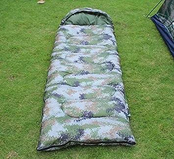 SUHAGN Saco de dormir Outdoor Camping Camping Bolsa De Dormir Travel Solo Saco De Dormir Sleeping Bag Zipper Camuflaje,Tipo De Sobres Digitales: Amazon.es: ...