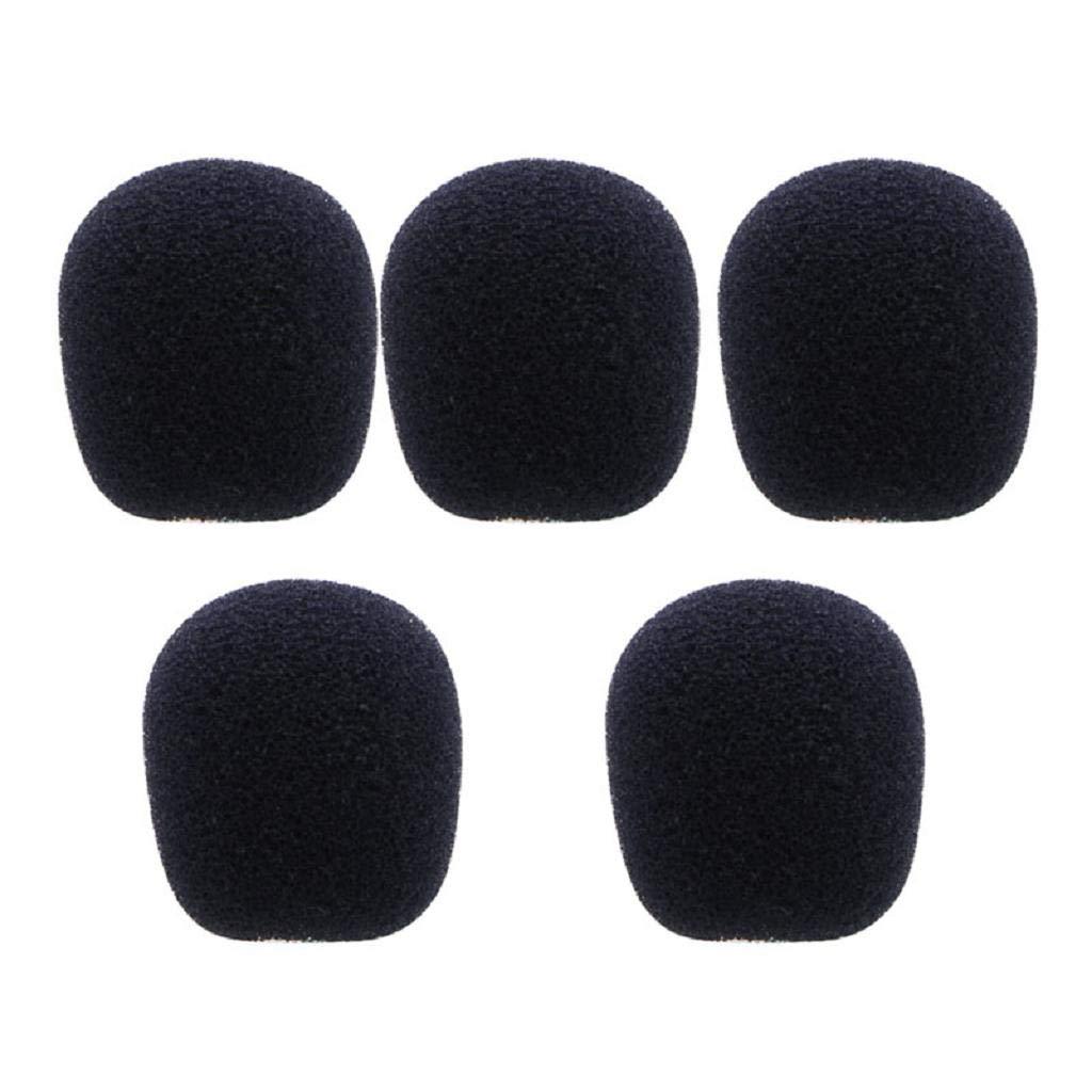 Baodanjiayou 5PCS Black Microphone Headset Foam Sponge