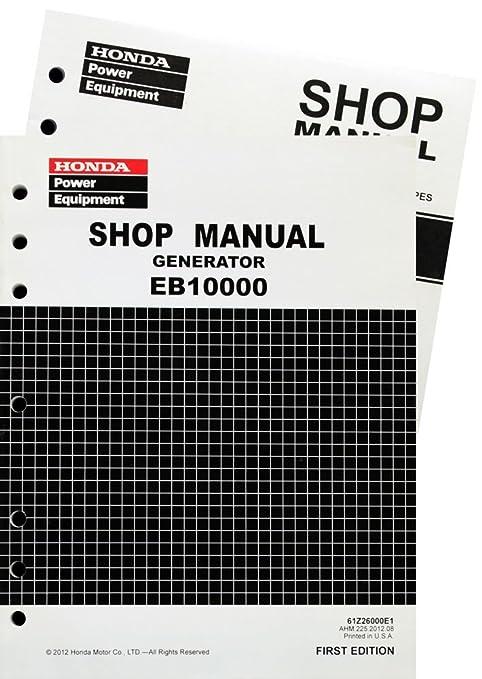amazon com honda eb10000 generator service repair shop manual rh amazon com Helm Service Manuals Honda Honda GX340 Service Manual