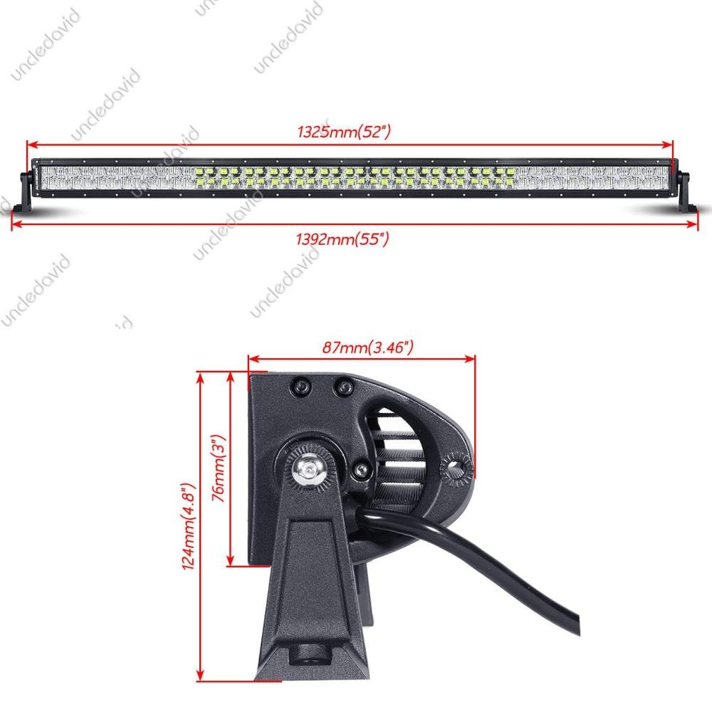 Auxbeam 52 300w Led Light Bar 5d Rgb Offroad Color Star Wiring Diagram Changing Spot Flood Combo Beam With Mounting Brackets Harness Automotive