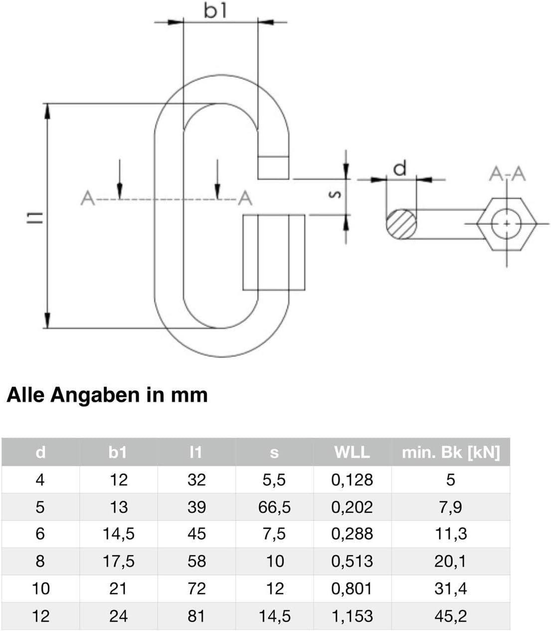 Raccord /à visser en acier inoxydable V4A 4-12 mm d/épaisseur argent