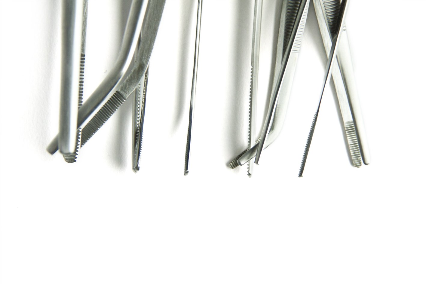 Straight, 60 cm RepTech low cost stainless steel tweezers straight or angled many