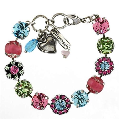 Amazon.com: Mariana Jewelry Pulsera de flores de primavera ...