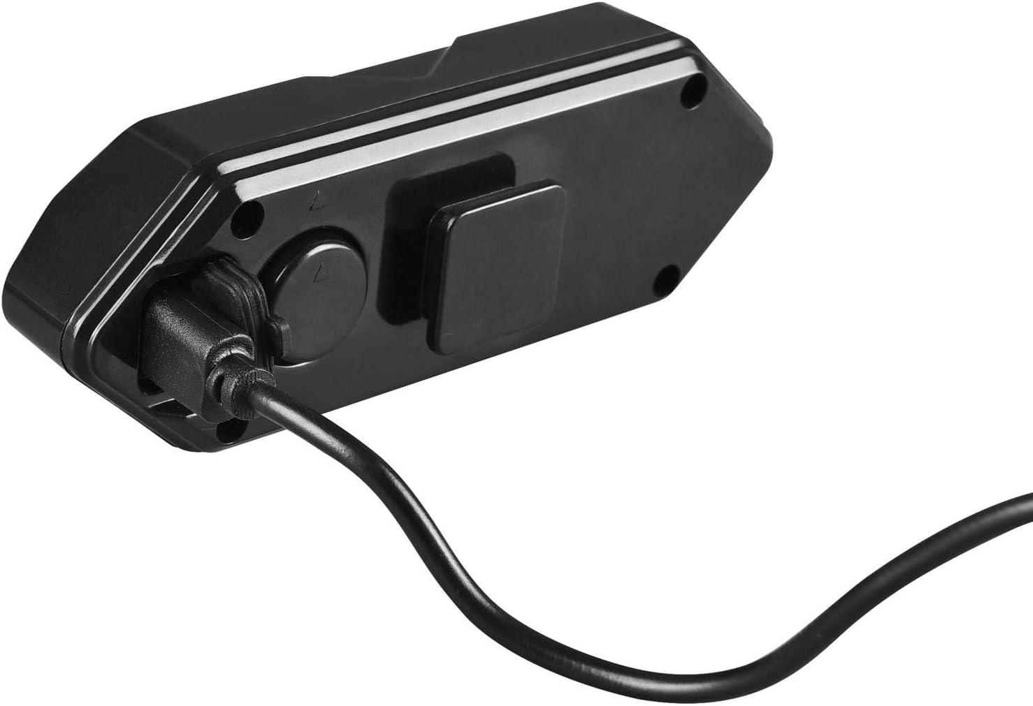F Fityle V/élo Feu arri/ère avec Clignotants et 120DB Corne Indicateur sans Fil T/él/écommande V/élo Arri/ère Lumi/ère Arri/ère USB Rechargeable S/écurit/é Avertissement