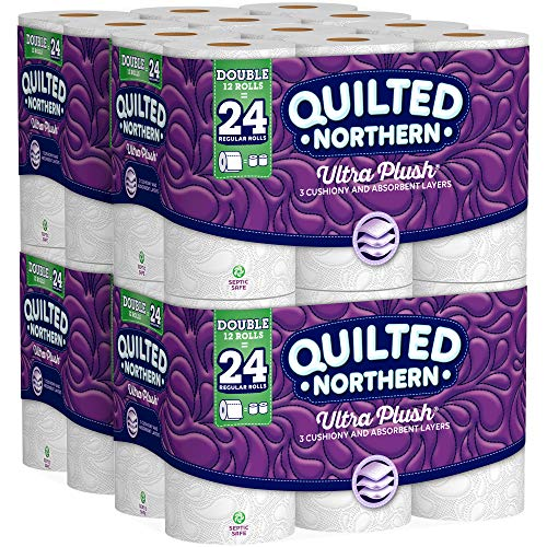 Quilted Northern  Ultra Plush Toilet Paper, Pack of 48 Double Rolls (Four 12-roll packages), Equivalent to 96 Regular Rolls--Packaging May Vary ()