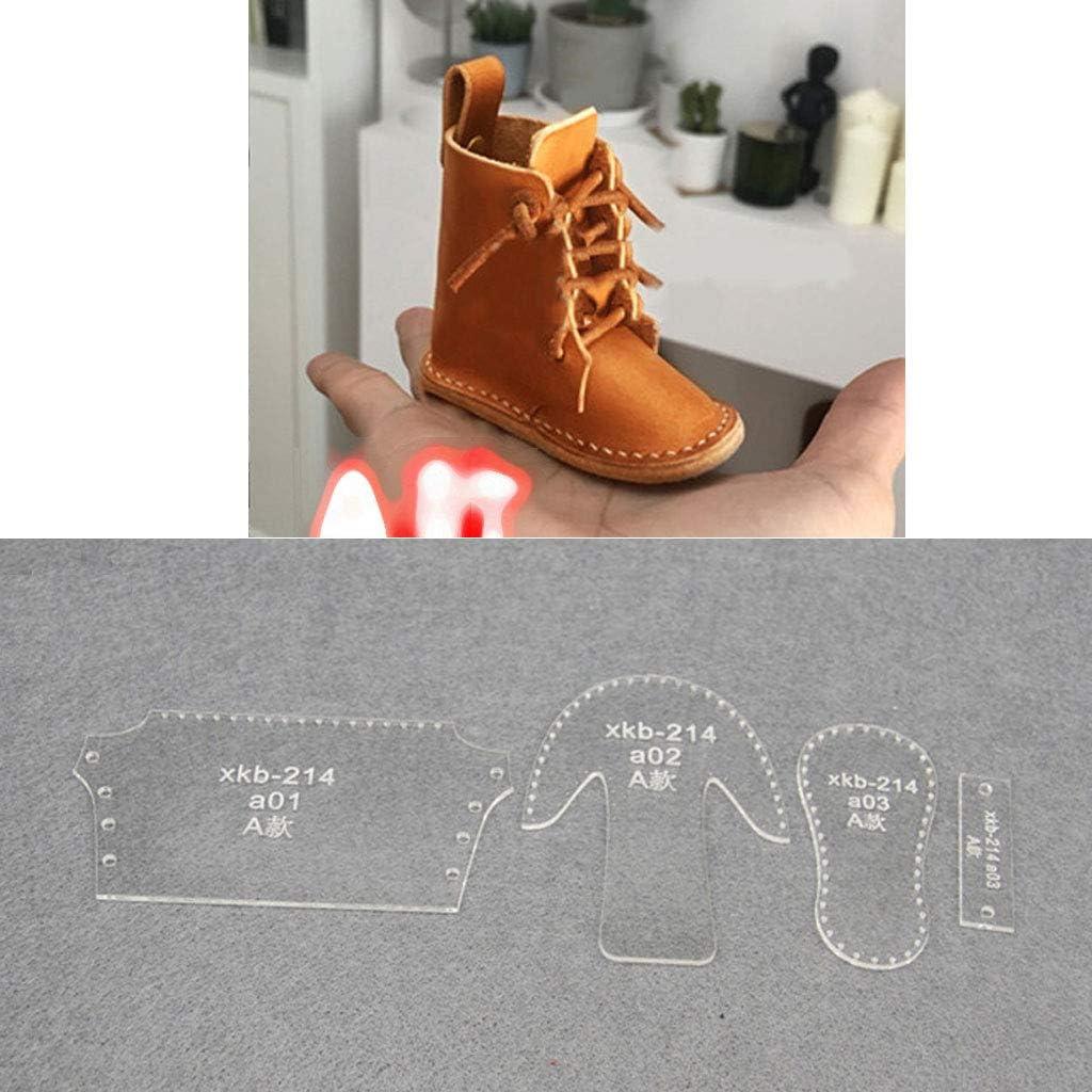 JIACUO Kleine Schuhe Mold Acryl Keychain Stencil Set Stiefel Anh/änger Acryl Vorlage