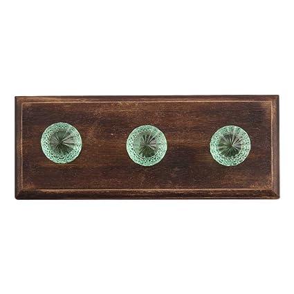 02e5f7c2bc1ae Indianshelf hecho a mano resistente perchero de madera verde menta toalla  para colgar llaves de pared
