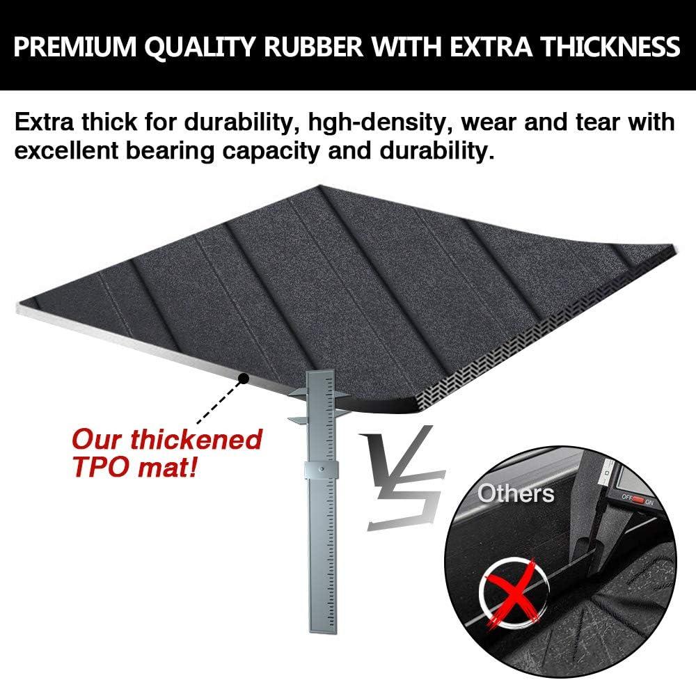 Mixsuper Rear Cargo Liner 3D TPO Durable Odorless Trunk Floor Mat for Honda Accord 2018-2020 All Models
