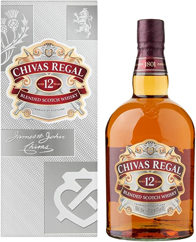 Chivas Regal - Whisky con Estuche, 1000 ml: Amazon.es: Alimentación y bebidas