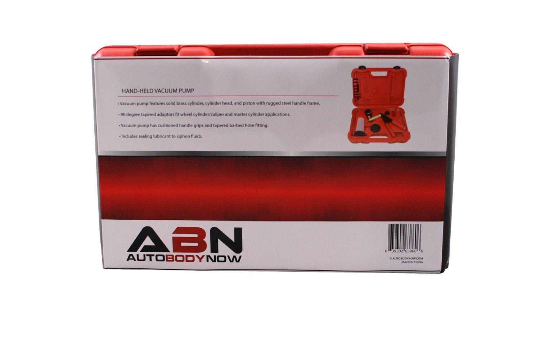ABN Hand Held Brake Bleeder 15pc Kit BMC Universal Vacuum Pump & Brake Bleeding Tester Set Auto Service & Food Canning by ABN (Image #8)