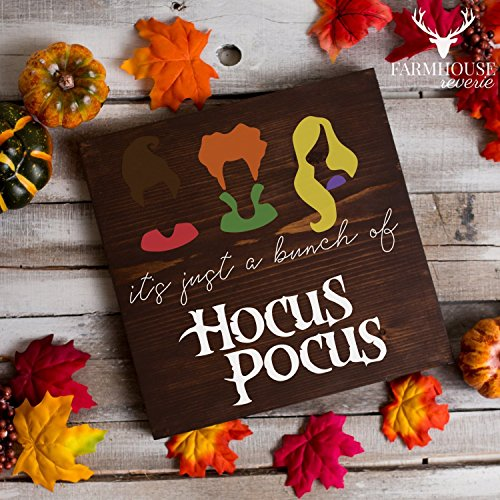 Hocus Pocus Sign | It's Just a Bunch of Hocus Pocus Sign | Hocus Pocus Halloween Sign | Fall Rustic Sign | Farmhouse Fall Decor | Farmhouse Style Sign | Country Fall Decor | Vintage Fall Sign